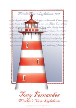 The Wreckers Cove Lighthouse - signed print